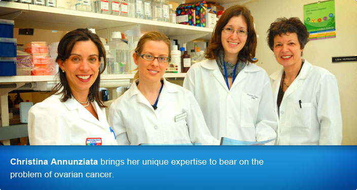 Christina Annunziata brings her unique expertise to bear on the problem of ovarian cancer.