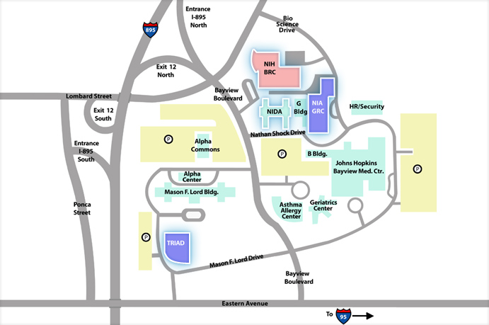 Map of the Bayview Campus