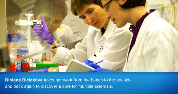 Bibiana Bielekova takes her work from the bench to the bedside and back again to discover a cure for multiple sclerosis.