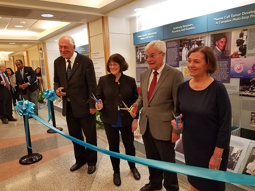 ribbon cutting at the exhibit's opening