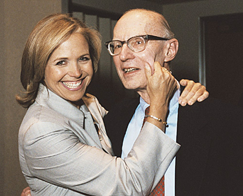 Dr. Alan Rabson with journalist and author Katie Couric