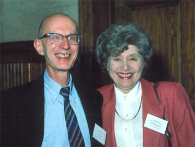 Dr. Rabson with his wife, Dr. Ruth Kirchstein