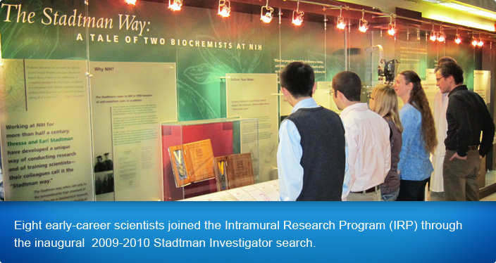 Eight early-career scientists joined the Intramural Research Program (IRP) through  the inaugural  2009-2010 Stadtman Investigator search.