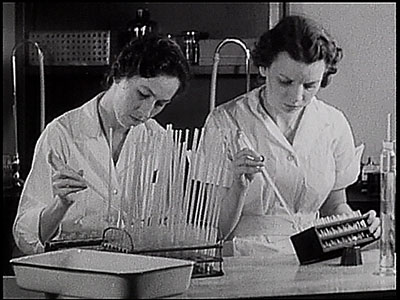 two nurses in a lab