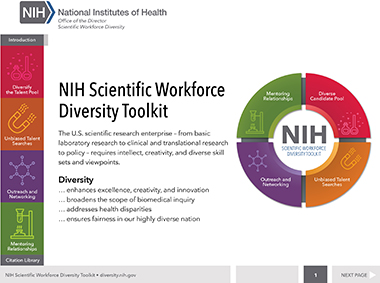 Webpage showing instructions for the diversity toolkit