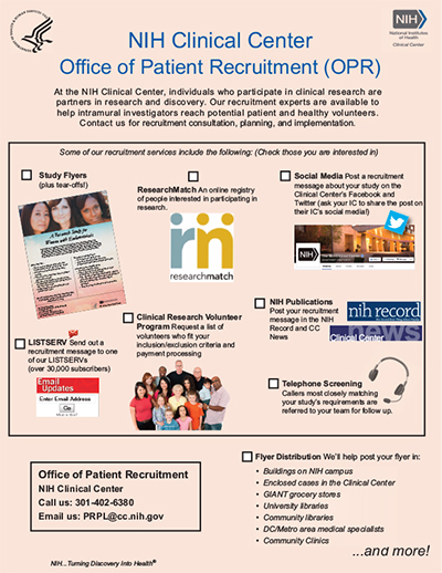 flyer for Patient Recruitment