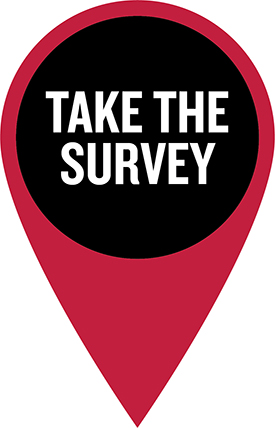 "graphic with words ""Take the Survey"""