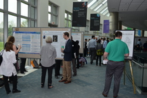 NIH postbacs show their posters at NIH's postbac poster day