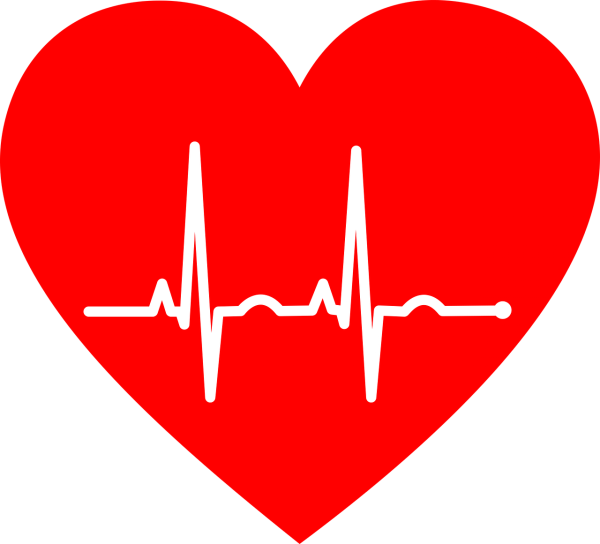 heart symbol surrounding an EKG recording