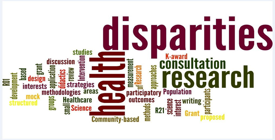 health disparities research word cloud