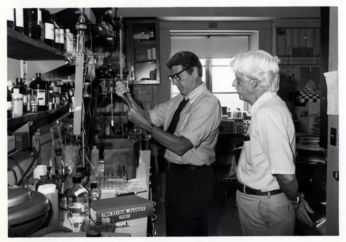 "Drs. Christian Anfinsen and Joseph ""Ed"" Rall"