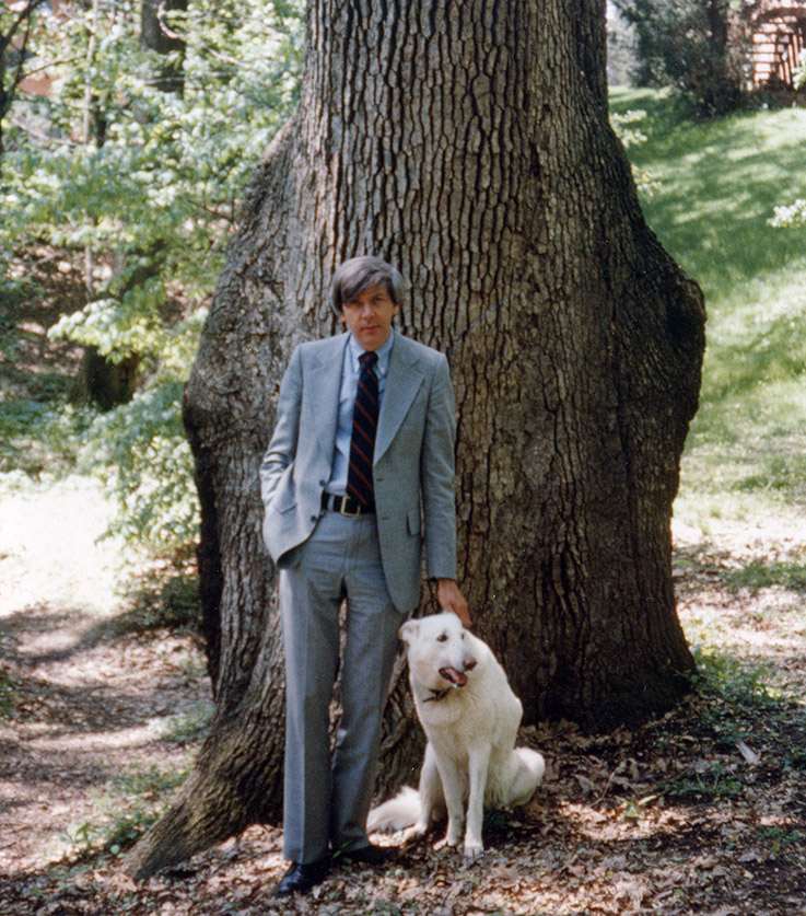 "Dr. Charles ""Chuck"" McIntosh and his dog, Misty"