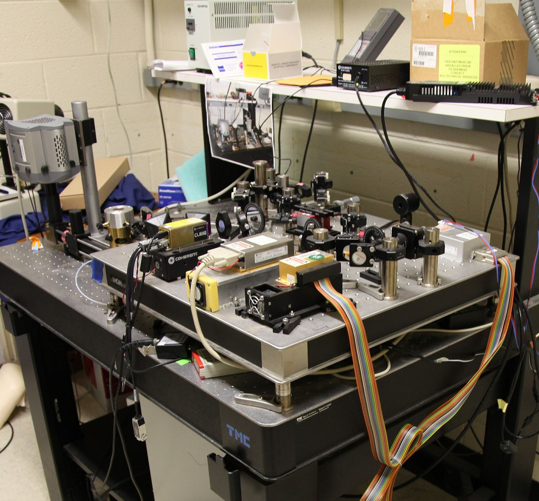 prototype of the Photoactivation Localization Microscopy (PALM) system
