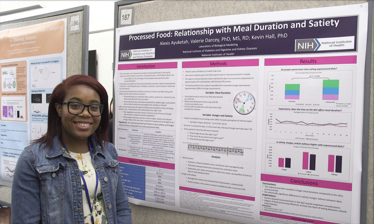 NIH summer intern Alexis Ayuketah at Summer Poster Day