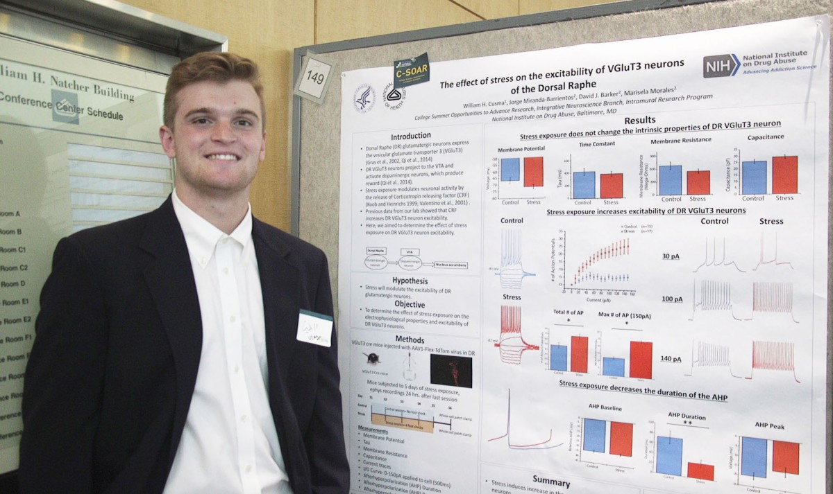 NIH summer intern William Cusma at Summer Poster Day