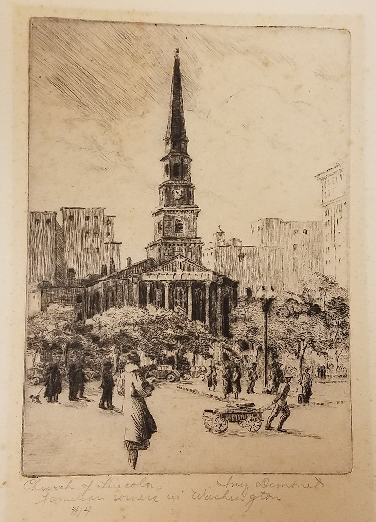 illustration of Washington, D.C.'s New York Avenue Presbyterian Church