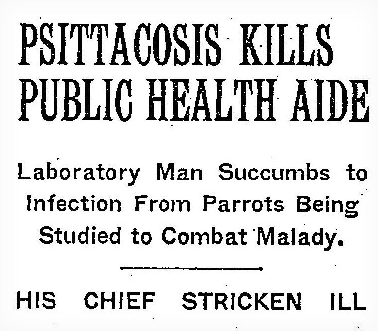 newspaper headline announcing the death of NIH lab tech Henry Anderson