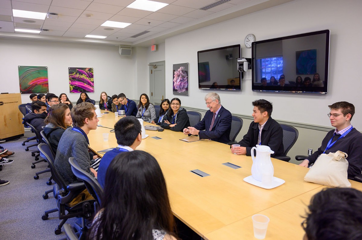 Regeneron Science Talent Search scholars meet with NIH Director Francis Collins
