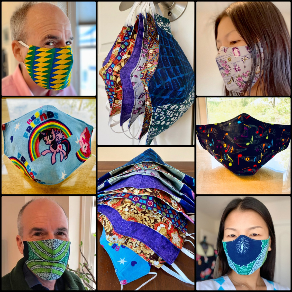 collage of a variety of colorful masks