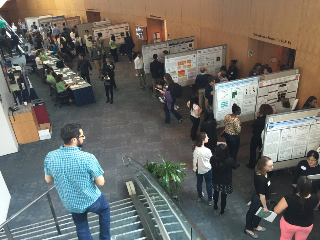 postbacs presenting their posters at NIH's Postbac Poster Day