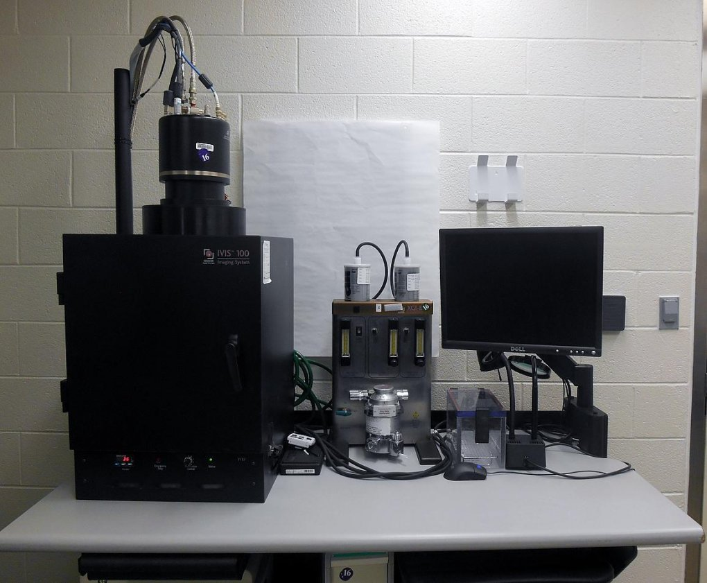 A photo of the large IVIS imaging system.